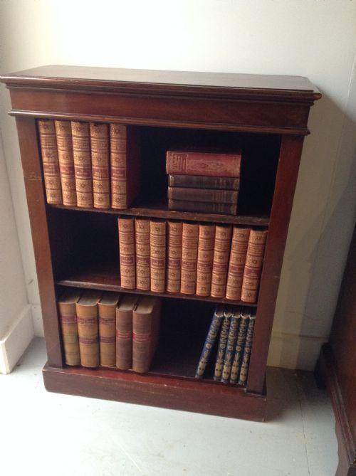 Bücherschrank Mahagoni Massivholz antik ca. 1860