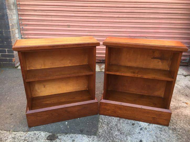 Paar Walnuss Bücherregale antik Massivholz