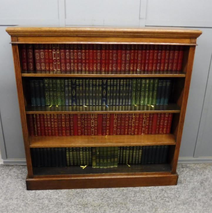 Victorian antiker Bücherschrank Eiche Massivholzschrank ca. 1900