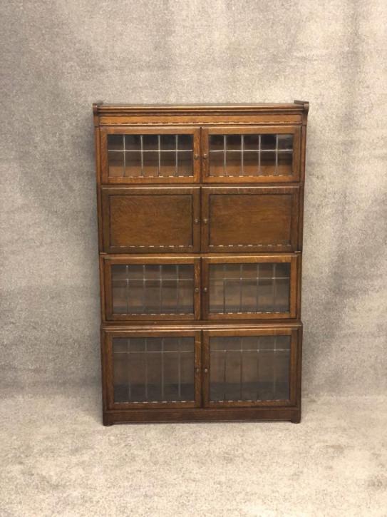 Globe Wernicke verglaster Bücherschrank Eiche Massivholzschrank 19. Jahrhundert