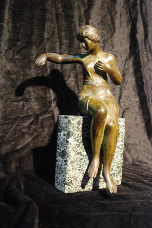Art Deco Trefolioni Bronze Figure, ca 1920