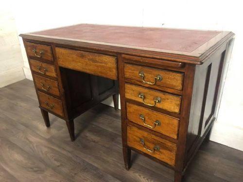 Edwardian Schreibtisch Massivholztisch antik ca. 1890