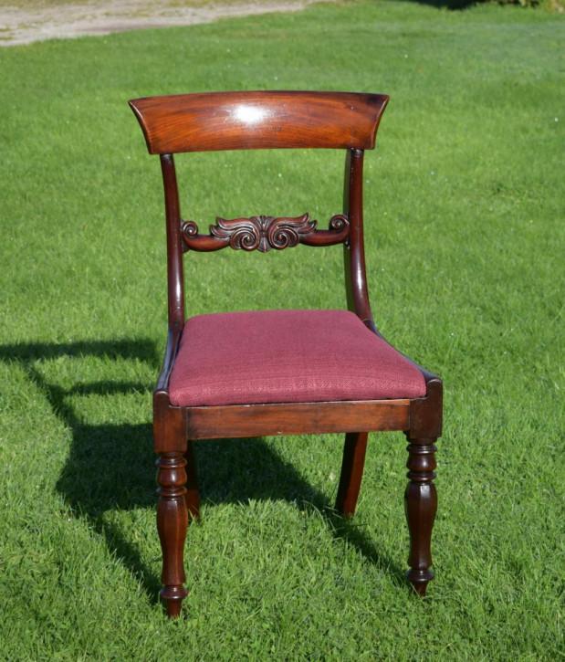 Englischer antiker Side Chair Beistellstuhl aus Mahagoni, früh viktorianisch ca 1840