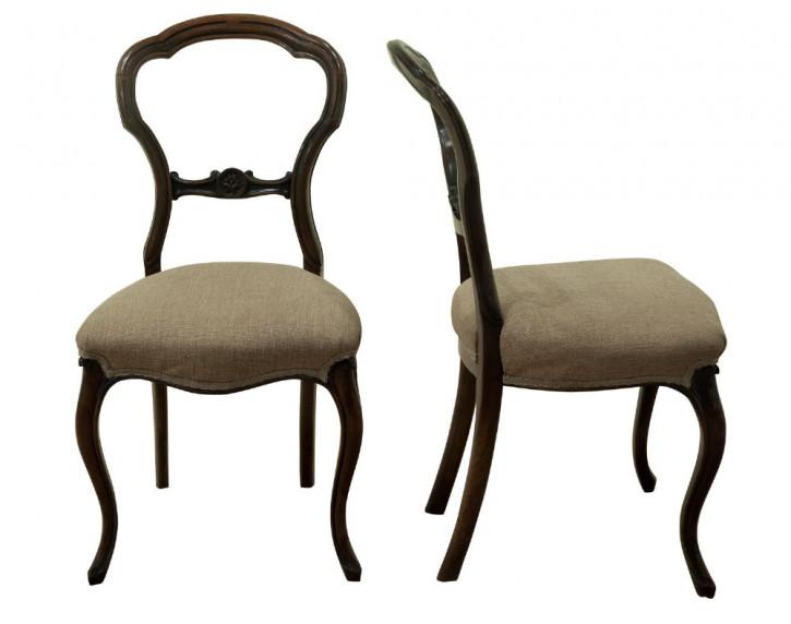 Paar viktorianische Beistellstühle 1860