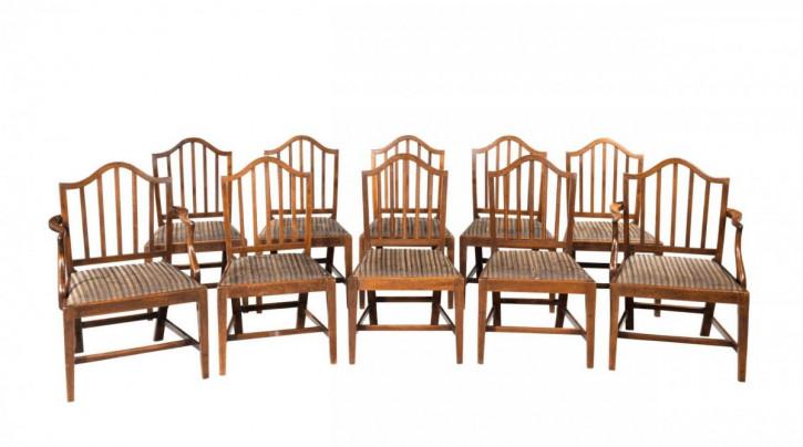 Satz von zehn Stühlen Periode George III