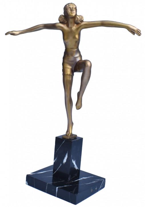 Originalantike Art Deco weibliche Tänzerin Figur