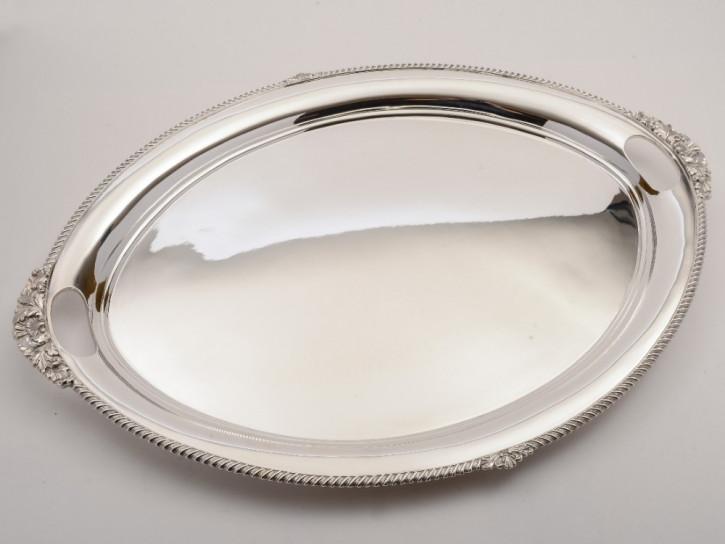 Antikes versilbertes Tablett Servierbrett silver plated tray, edwardianisch ca 1900