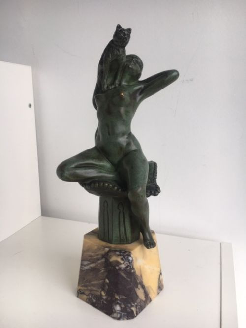 Antike Bronzeskulptur von Raymond Charles Irland 1910