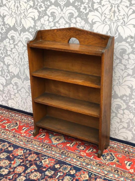 Originales antikes Arts and Crafts Bücherregal / Bookcase aus Eiche, britisch, ca 1920