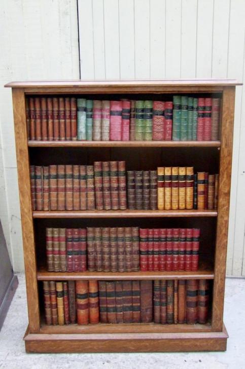 Eiche Bücherregal Antik Massivholzregal Offener Bücherschrank 19. Jahrhundert