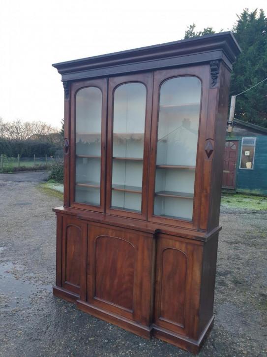 kompaktes  Mahagoni-Bücherregal viktorianisch