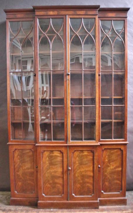 georgischer Bücherschrank aus Mahagoni Türen