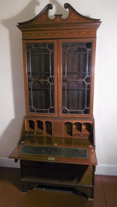 Edwardian Mahagonibüroschrank antik