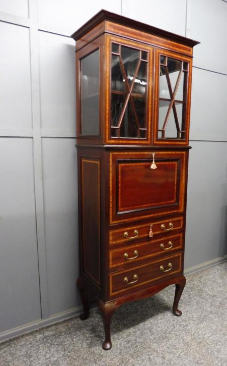 Edwardian inlay Schrank /Büroschrank antik