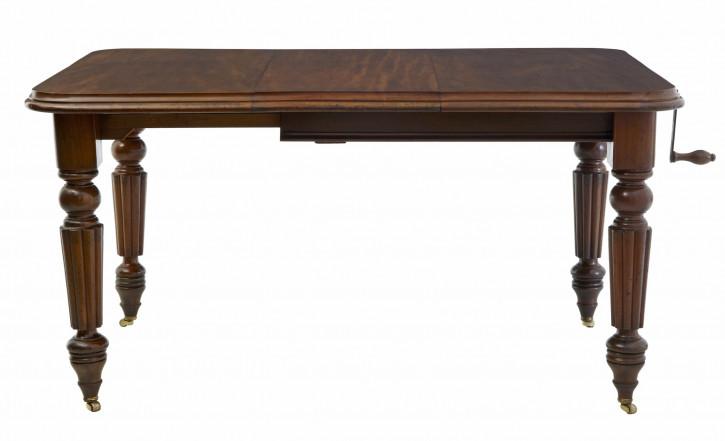 Ausziehbarer Esstisch aus Mahagoni aus dem 19. Jahrhundert, viktorianischer Stil
