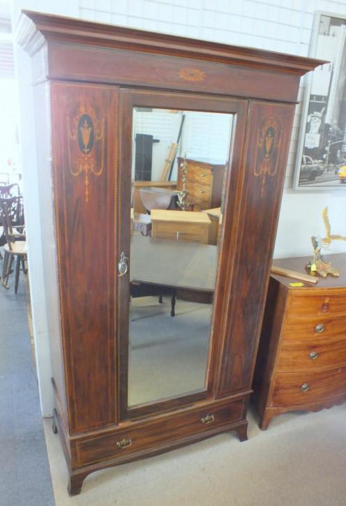 Garderobe Mahagoni Massivholzschrank antik edwardianisch