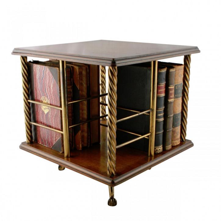 Antiker viktorianischer Büchertisch , Drehständertisch