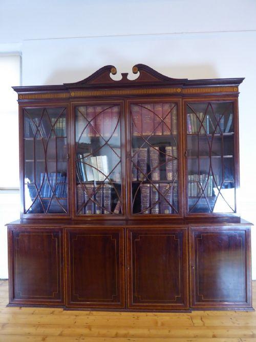 Morrison & Co. eingelegtes viertüriges Bücherregal aus Mahagoni