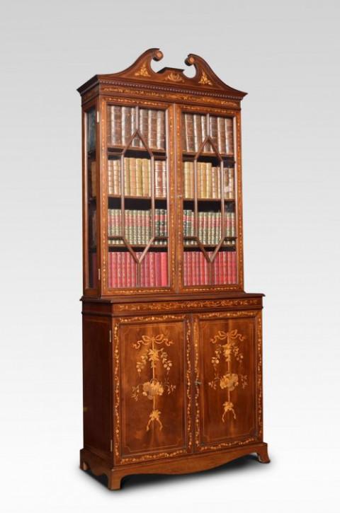 Mahagoni zwei Tür eingelegtes Bücherregal