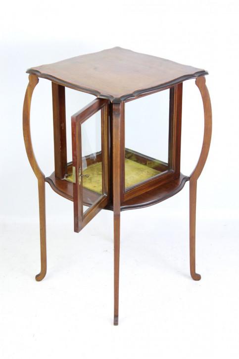Edwardianische Arts&Crafts Mahagoni Vitrine Massivholz antik ca 1905