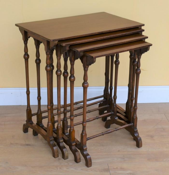 Edwardianische Mahagoni Tische Set Massivholz antik ca 1890