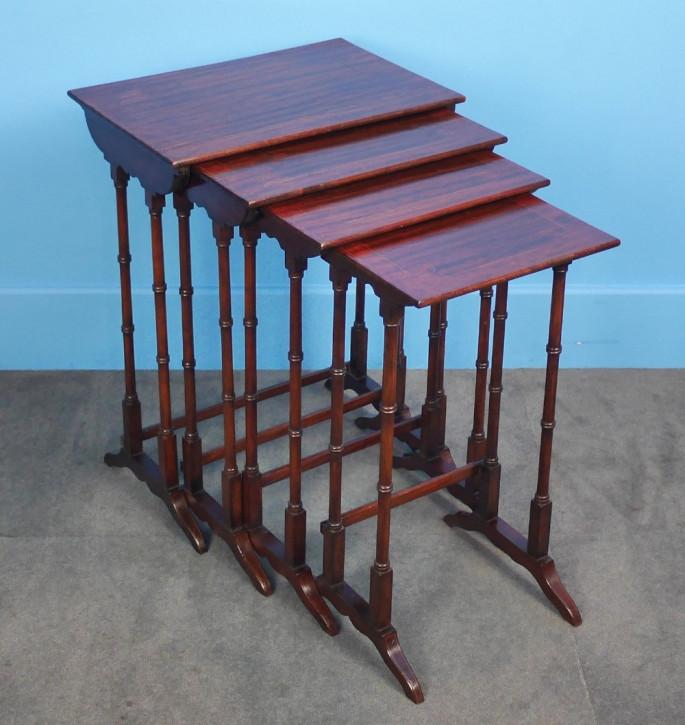 Edwardianische Mahagoni Tische Set Massivholz antik ca 1900