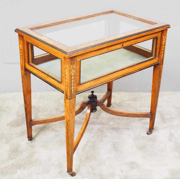 Viktorianischer Palisander Bijouterie Tisch Massivholz antik ca 1890