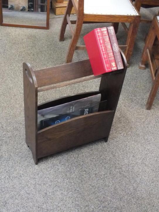 Kleines Eichen Bücherregal Massivholz antik ca 1920