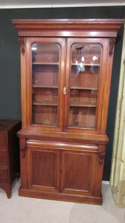 Antikes Bücherregal aus viktorianischem Mahagoni