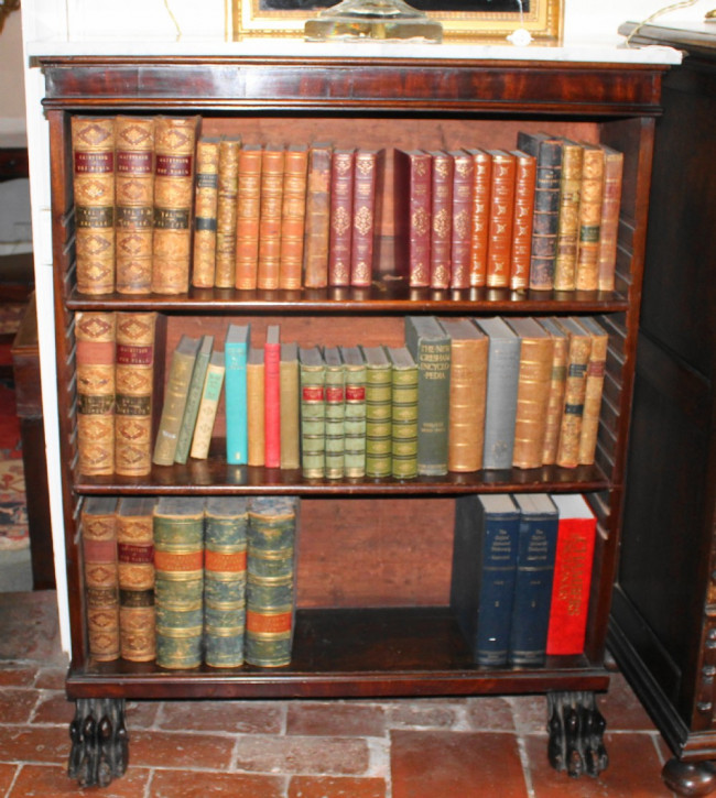 Offenes Bücherregal aus Mahagoni aus dem 19. Jahrhundert