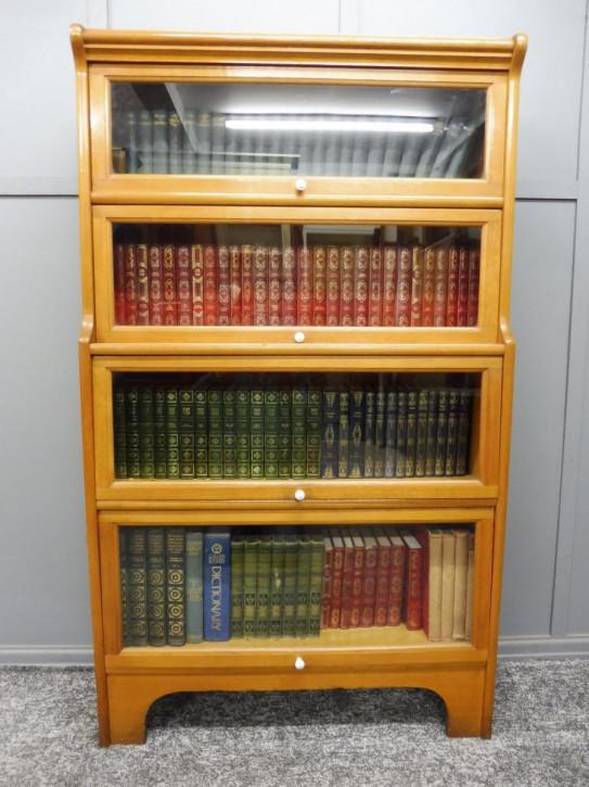 antikes edwardianisches 4 Ebenen Lawyers  Bücherregal