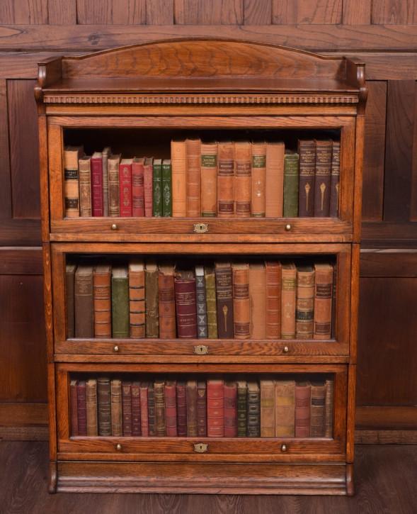 Bücherregal antik Eiche Massivholzschrank ca. 1890