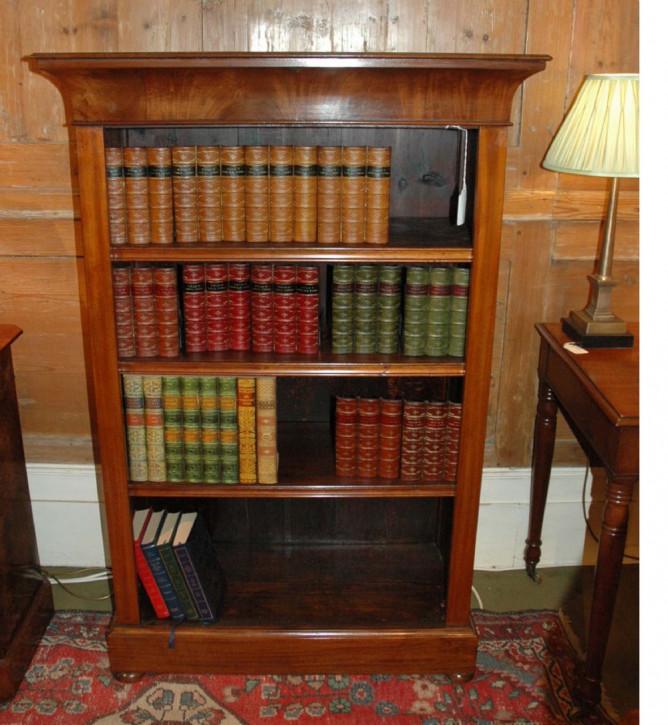 Mahagoni offenes Bücherregal Massivholzschrank antik ca. 1755