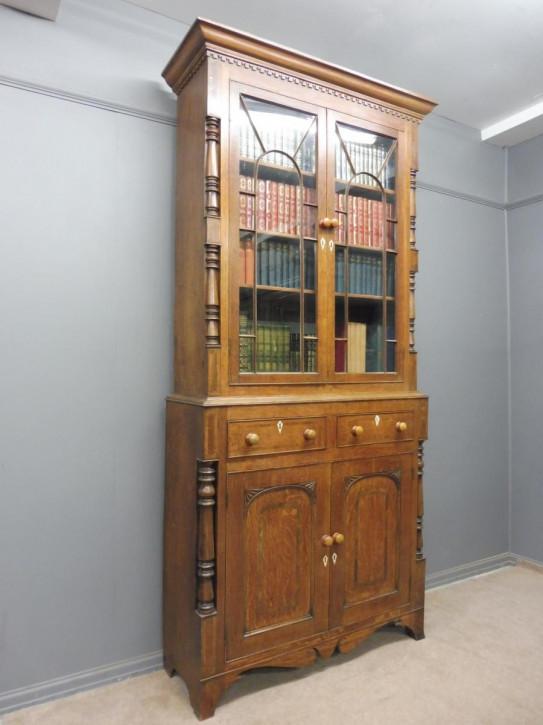 antikes Eichenbücherregal um 1820