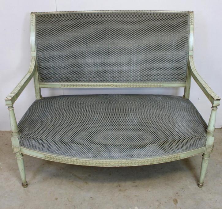 antikes bemaltes französisches Sofa