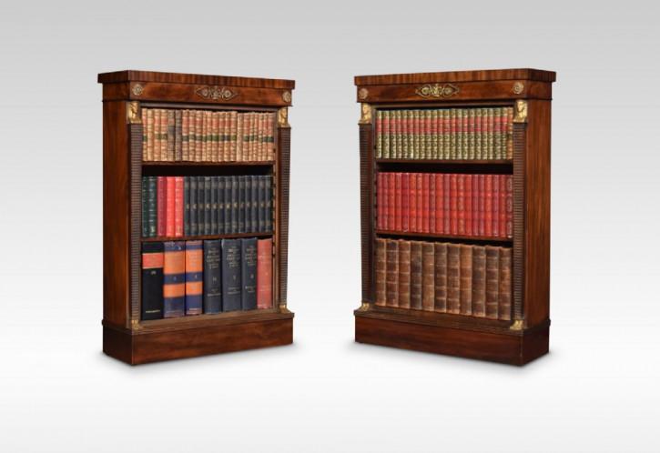 Paar Regentschaft Mahagoni Bücherregale Massivholzschränke antik ca. 1900