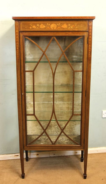 Mahagoni Vitrine antik Massivholzvitrine ca. 1890