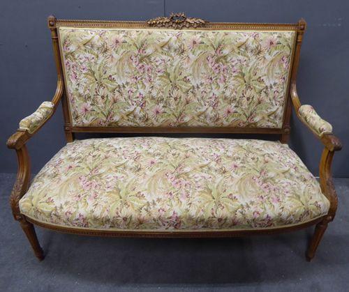 Louis XVI- Stil Antikes französisch geschnitztes Sofa ca. 1900