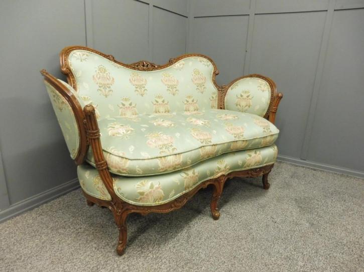 Antikes geschnitztes Sofa englische Buche ca. 1870
