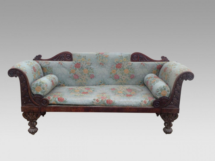 William IV irisch Sofa antik Mahagoni Massivholzsofa 19. Jahrhundert