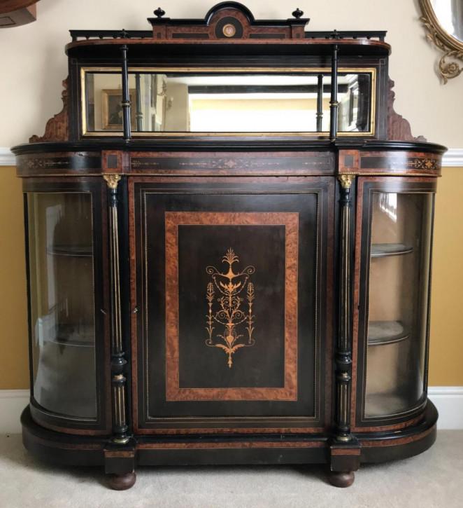 Amboina ebonisierte Kommode antik Kredenz 19. Jahrhundert