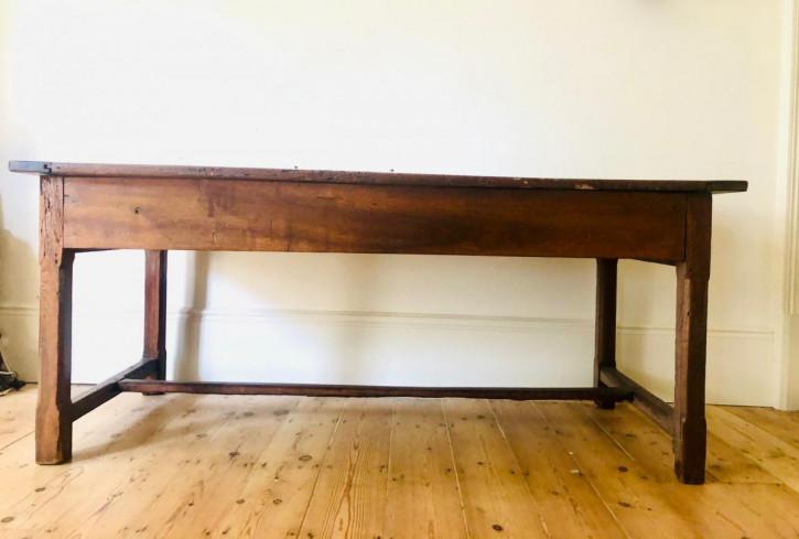 Antiker Eichen Landhaustisch aus französischer Eiche ,frühes 19. Jahrhundert
