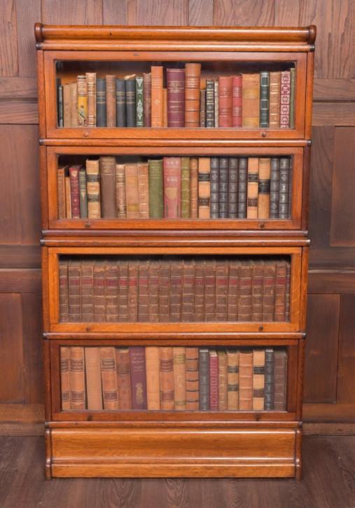 Globe Wernicke Eiche Bücherregal antik Massivholzregal ca. 1890