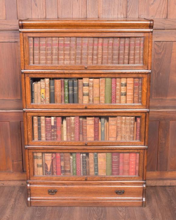 Globe Wernicke Bücherregal Eiche Massivholzregal antik ca. 1890