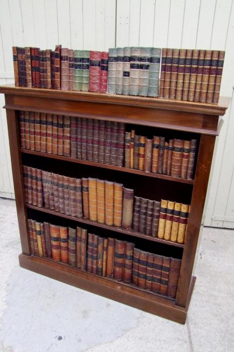 Offenes Bücherregal aus Mahagoni Massivholzregal antik ca. 1930
