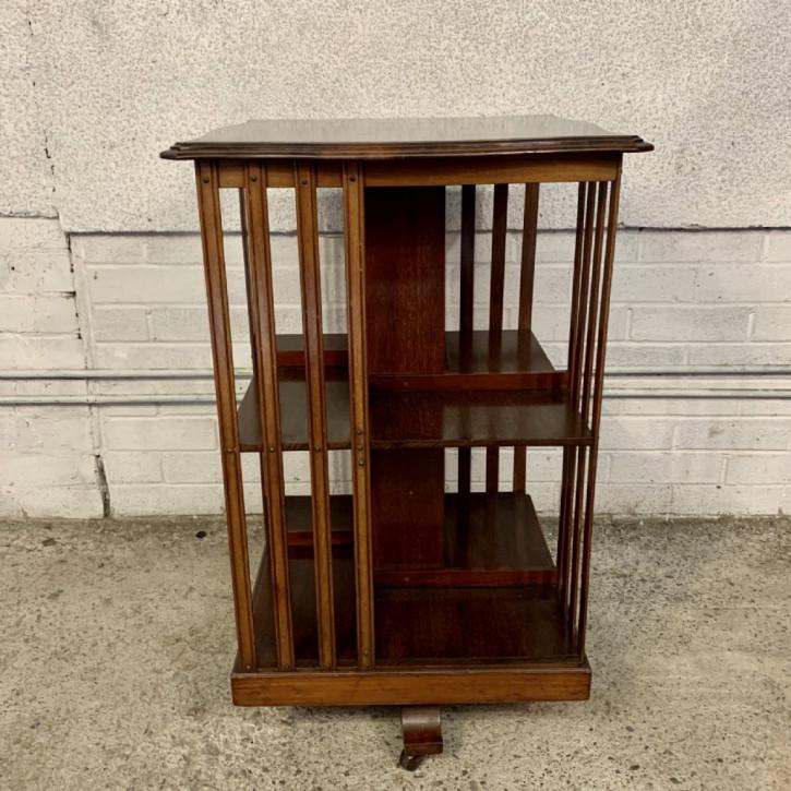 Edwardian Mahagoni Revolving Bookcase , Bücherregal, von 1910