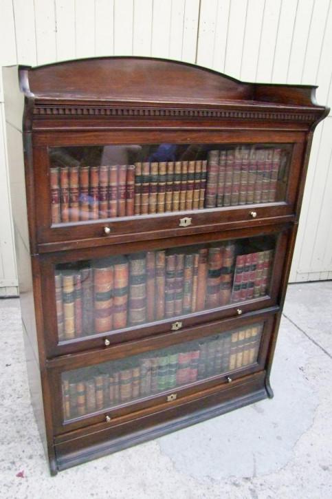 Antikes Mahagonibücherregal, Barrister Bookcase,  verglast, stapelbar von 1920