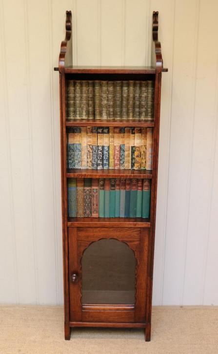 Antikes hohes Bücherregal aus französischer Eiche