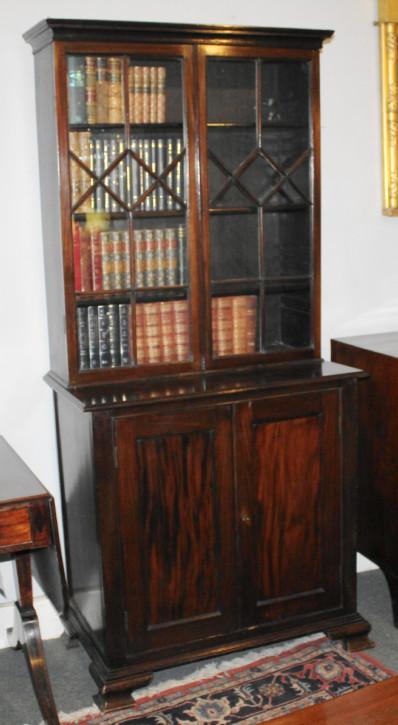 Antikes Mahagonibücherschrank , Mahagonibibliothek aus dem frühen 19. Jahrhundert