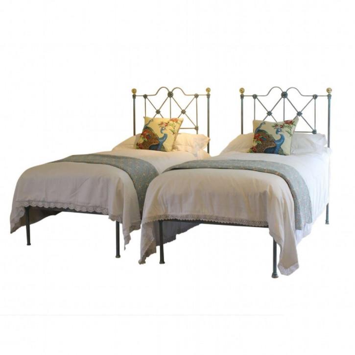 Paar schöner Betten Bettgestelle antik ca. 1880